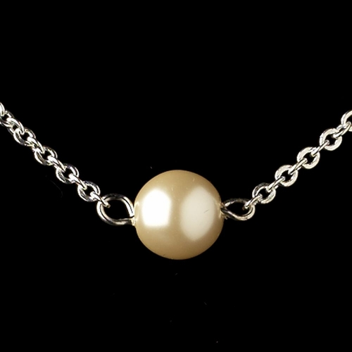 Silver Ivory Pearl Jewelry Set 9715