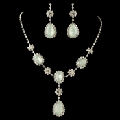 Silver Mint Opal Drop Jewelry Set 47338***Discontinued****