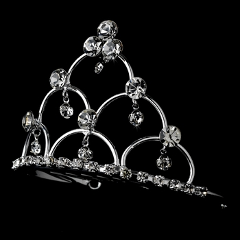 * Silver Plated Child's Tiara Comb HPC 500