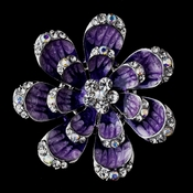 * Silver Purple Brooch 162