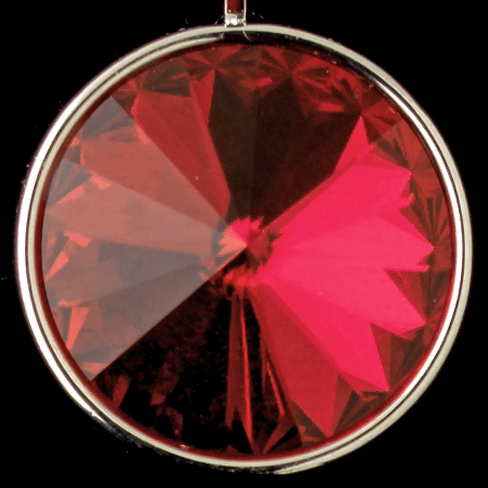 78a07e9a3 Silver Red Swarovski Crystal Element Large Round Leverback Earrings 9603
