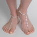 Silver Rhinestone Bridal Wedding Foot Jewelry 9