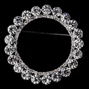 Silver Rhinestone Wreath Brooch 30251