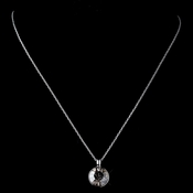 Silver Smoke Round Swarovski Crystal Element On Chain Necklace 9600