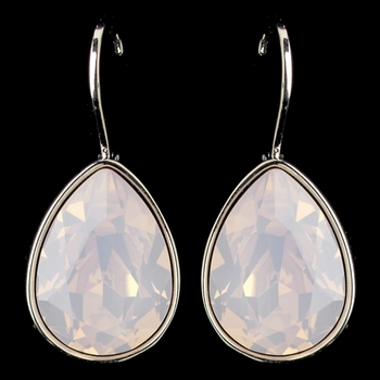 Silver Transmission Hotfix Transparent Swarovski Crystal Element Teardrop Leverback Earrings 9602