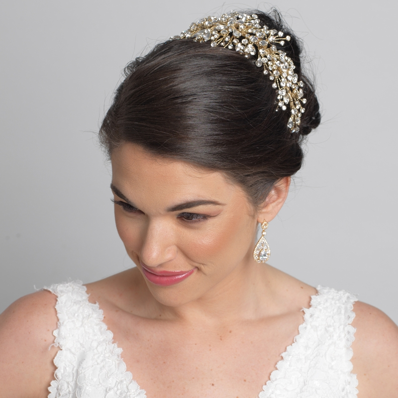hairs styles silver wired tiara with crystals side headband 4821 8548