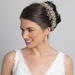 Silver Wired Tiara With Crystals Side Headband 4821