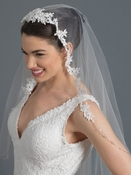 Single Layer Bridal Wedding Waltz Veil V 1154 1W