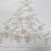 Single Layer Cathedral Length Cut Edge Veil with Floral Ivory w/ Silver Embroidery & Beads V 1135 1C