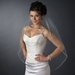 Single Layer Fingertip Length Beaded Edge with Bugle Beads & Sequins Veil 2513 1F