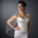 Single Layer Fingertip Length Cut Edge with Pearls, Bugle Beads & Sequins Veil 2510 1F