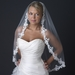 Single Layer Fingertip Length Floral Lace Embroidery Edge Veil 1138 1F