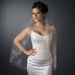 Single Layer Fingertip Length Scalloped Edge with Bugle Beads & Sequins Veil 1047 1F