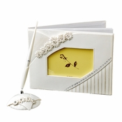 Small White Daisy Guest Book & Pen Set