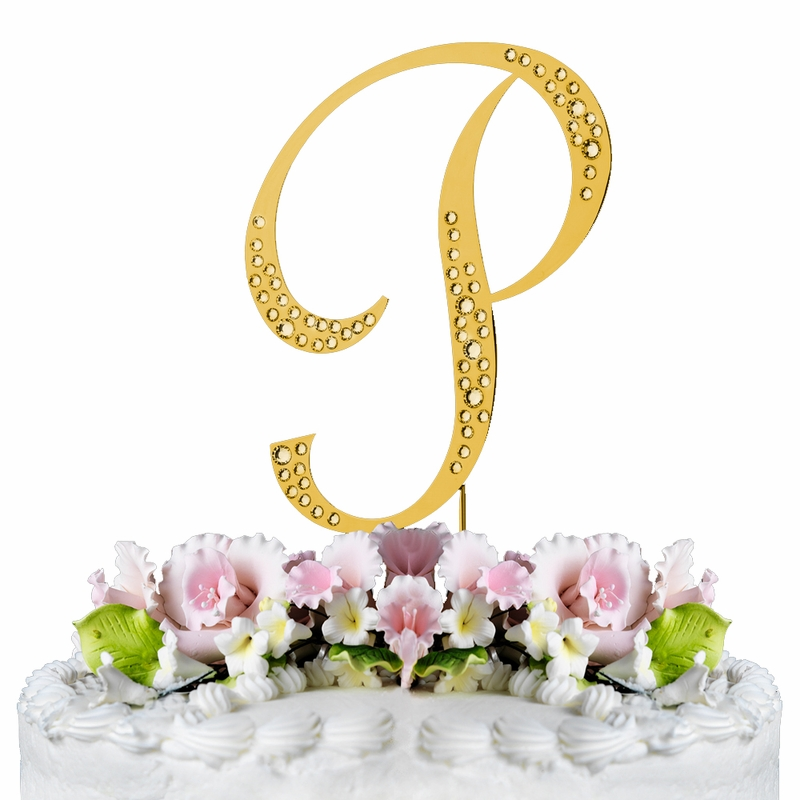 gold wedding cake topper sparkle swarovski wedding cake topper gold 14833