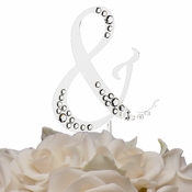Sparkle ~ Swarovski Crystal Wedding Cake Topper ~ Silver Ampersand &