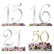 Sparkle ~ Swarovski Crystal Wedding Cake Toppers ~ Numbers
