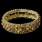 Sparkling Gold Topaz Crystal Stretch Bracelet 8703