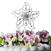 Sparkling Rhinestone Covered Flower Cake Top 1020