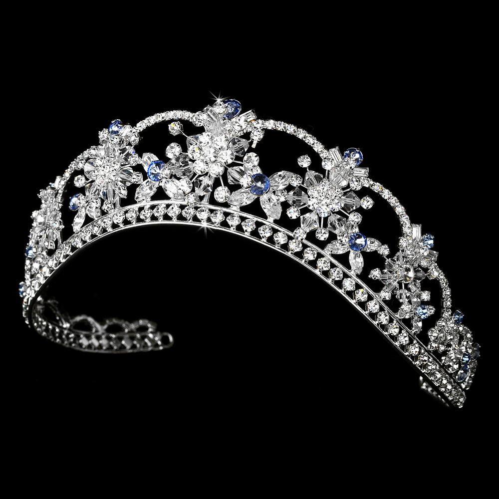 Something Blue Rhinestone Amp Swarovski Crystal Tiara In