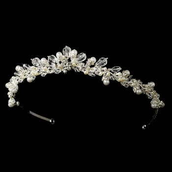 * Swarovski Crystal and Pearl Tiara HP 7050***Discontinued***