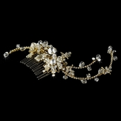 Swarovski Crystal Bridal Side Comb 7809 Gold
