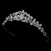 Antique Silver Clear Swarovski Crystal Tiara HP 7088 S***Discontinued***