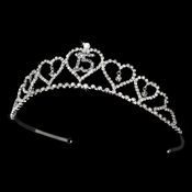 Sweet 15 Quinceañera Rhinestone Covered Tiara 460 in Silver (Available in Many Colors)