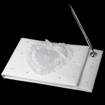 Sweet 15 White Guest Book
