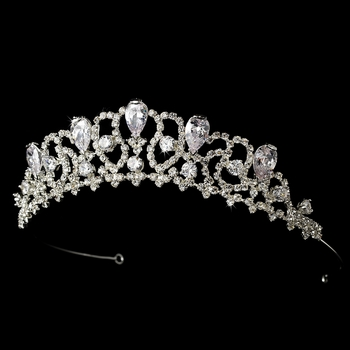 * Teardrop Bridal Tiara HP 8108