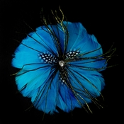 * Turquoise Feather Brooch 132