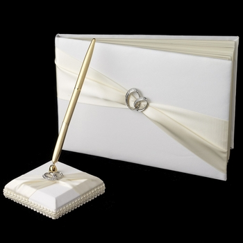 Two Rings Guest Book & Pen Set 763