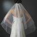 Two Tier Fingertip Veil with Exquisite Crystal & Pearl Accented Edge in Ivory V 2020