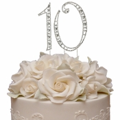Vintage ~ 10th Anniversary, 10th Birthday Swarovski Crystal Cake Topper