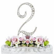 Vintage ~ 2nd Anniversary or 2nd Birthday Swarovski Crystal Cake Topper