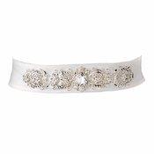 * Vintage Rhinestone Crystal Wedding Sash Bridal Belt 25 White or Black
