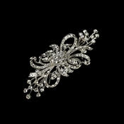 Vintage Silver Clear Plated Clear Crystal Bridal Brooch 3268