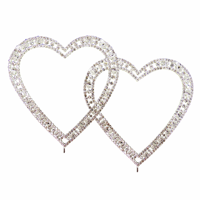 swarovski crystal double heart wedding cake topper vintage swarovski wedding cake topper 20673