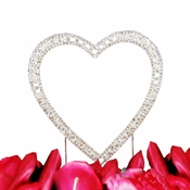 Vintage Swarovski Crystal Single Heart Wedding Cake Topper