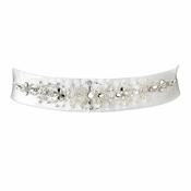 Wedding Sash Bridal Belt 28 White
