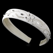 * White Floral Bridal Headband HP 8317
