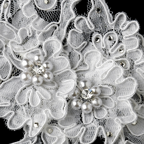 ✧SPECIAL ORDER ONLY✧ White Pearl, Rhinestone & Floral Lace Comb