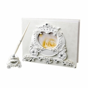 Wonderful Cinderella Coach Carriage Guest Book & Pen Set