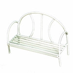 Wire Bench (white)