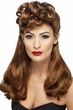 1940's Long Auburn Wig With Top Curls