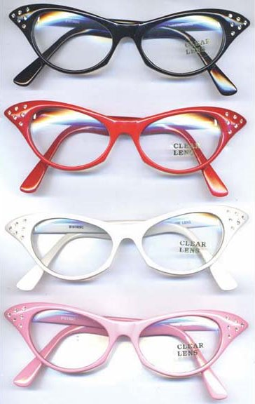 756163dd25 ... 50s Style Rhinestone Cat s Eye Glasses