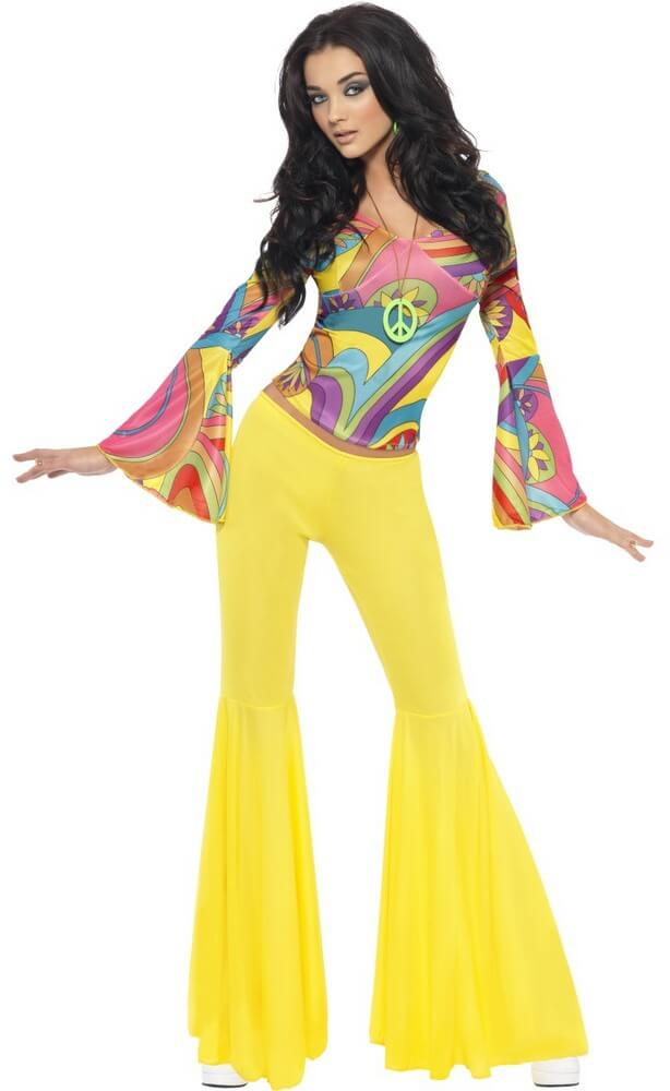 70 s Groovy Babe Top and Bell Bottom Pants - Candy Apple Costumes - Women s  60s   70s Costumes ea0ccb8bc