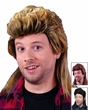 80's Mullet Wig - Blonde, Brown or Black