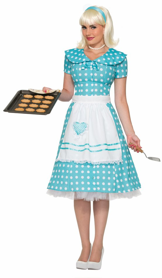 Adult 50u0027s Housewife Dress Costume  sc 1 st  Candy Apple Costumes : 50 costume  - Germanpascual.Com