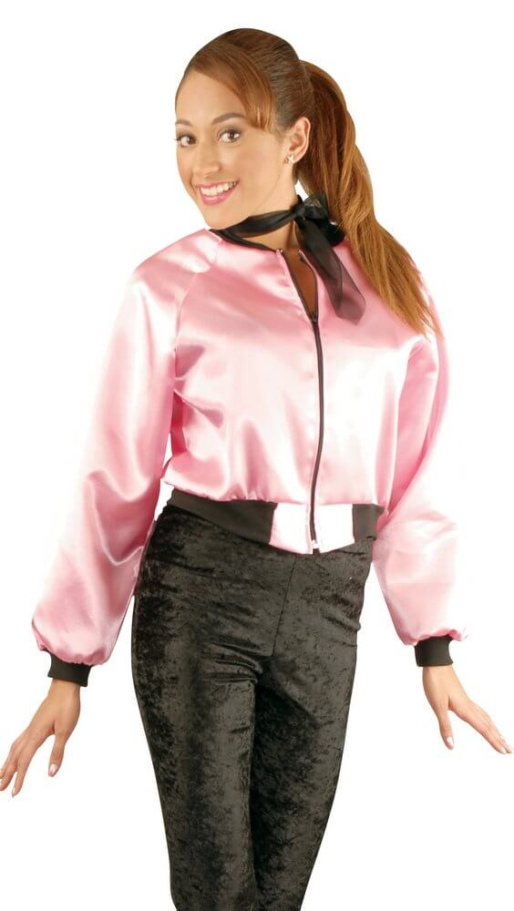 Adult 50's Pink Satin Jacket - Candy Apple Costumes - 50's Costumes